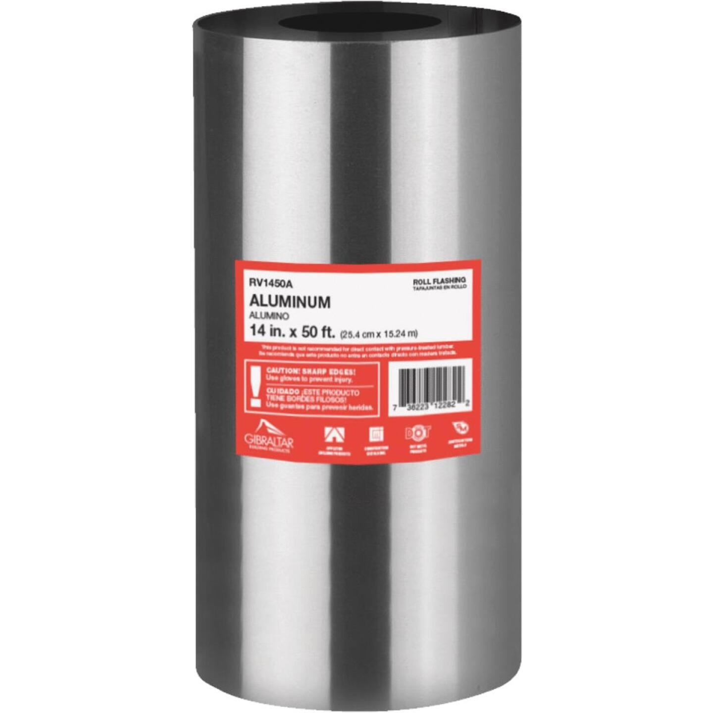 NorWesco 14 In. x 50 Ft. Mill Aluminum Roll Valley Flashing Image 1