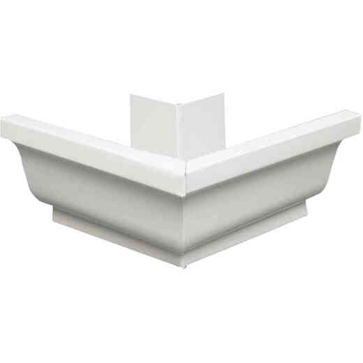 Amerimax 5 In. Galvanized White Mitre Gutter Outside Corner