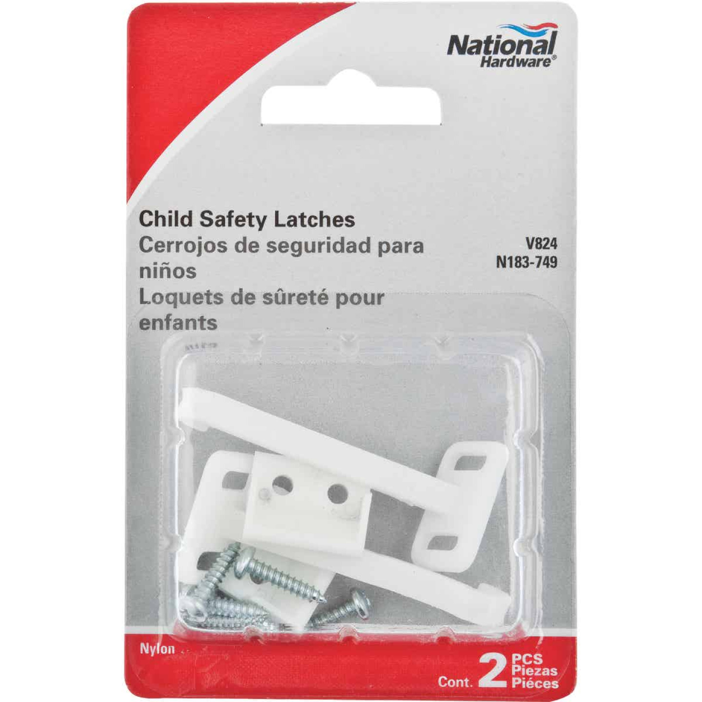 National Cabinet & Drawer Lock Child Safety Latches (2-Count) Image 2