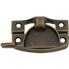 National Antique Brass Finished Die-Cast Zinc Crescent Sash Lock Image 1