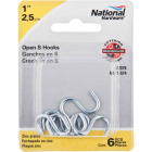 National 1 In. Zinc Heavy Open S Hook (6 Ct.) Image 2