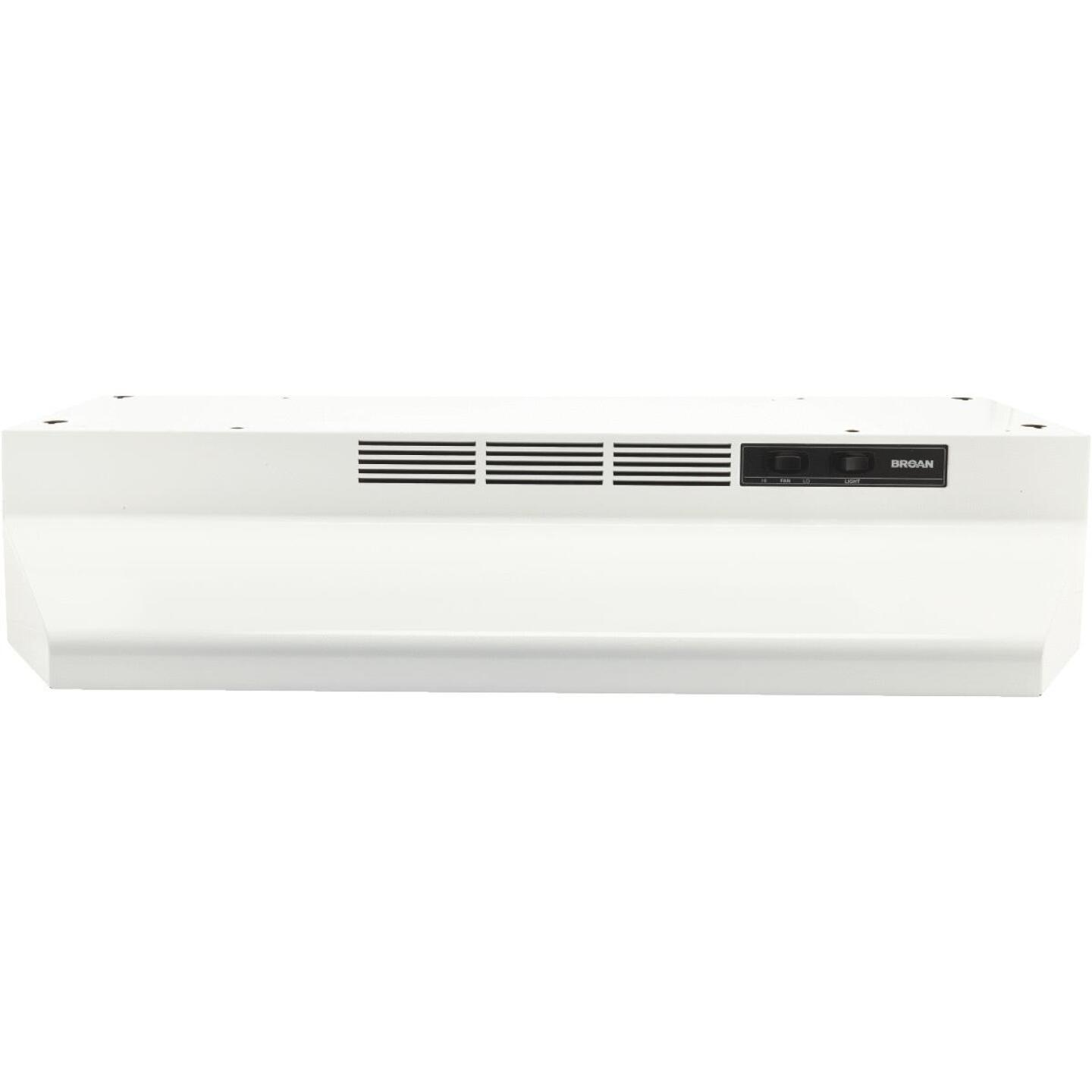 Broan-Nutone 41000 Series 30 In. Non-Ducted White Range Hood Image 2