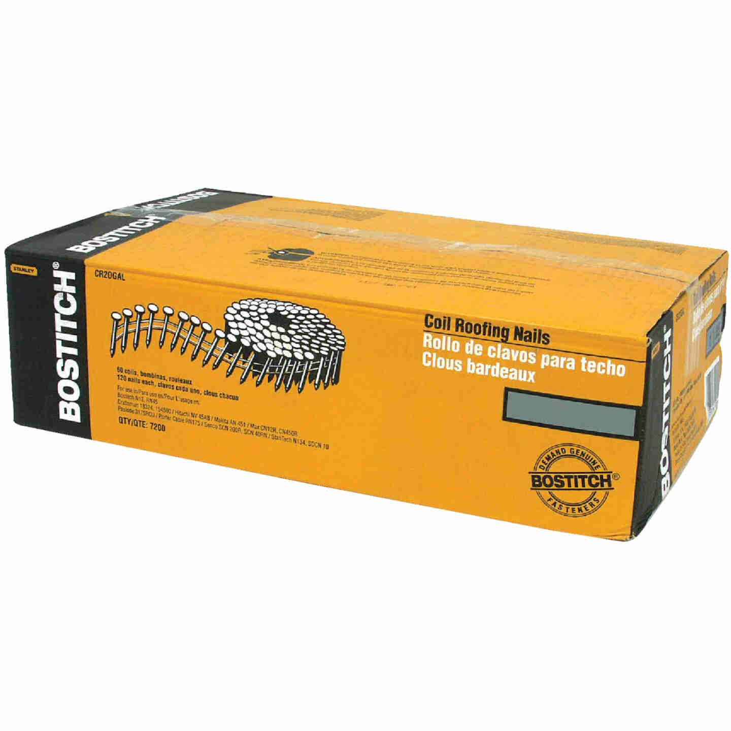 Bostitch 15 Degree Wire Weld Galvanized Coil Roofing Nail, 7/8 In. x .120 In. (7200 Ct.) Image 1