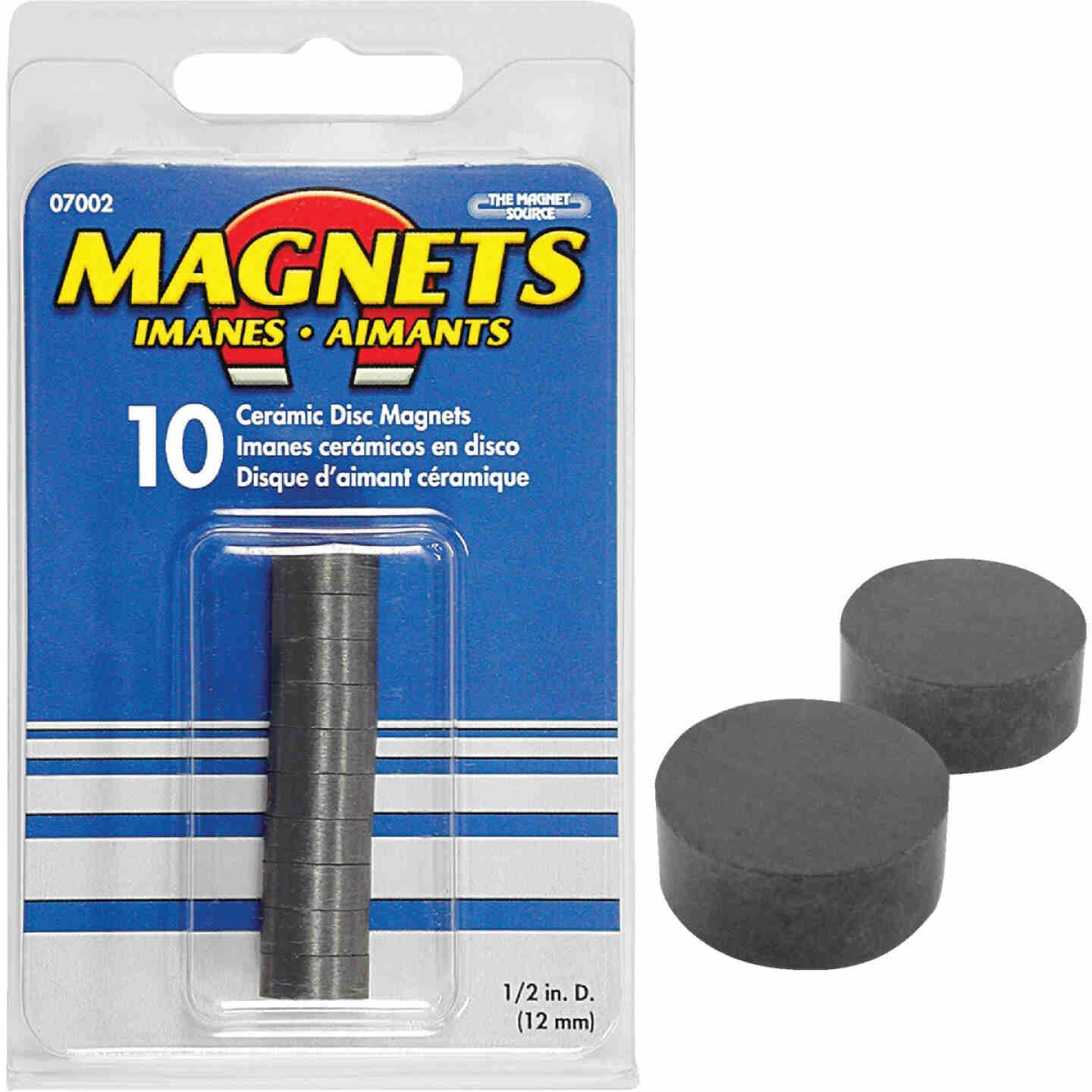 Master Magnetics 1/2 in. Multi-Pole Ceramic Magnetic Disc (10-Pack) Image 1