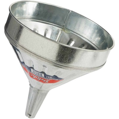 Delphos Heavy-Duty 6 Qt. Galvanized Steel Funnel with Center Spout