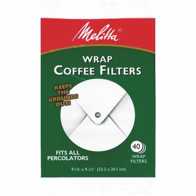 Melitta White Wrap Coffee Filter (40-Pack)