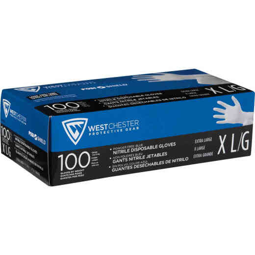 West Chester Protective Gear Posi Shield XL Nitrile Disposable Glove (100-Pack)