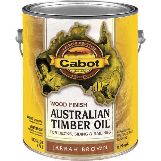 Cabot Australian Timber Oil Water Reducible Translucent Exterior Oil Finish, Jarrah Brown, 1 Gal.