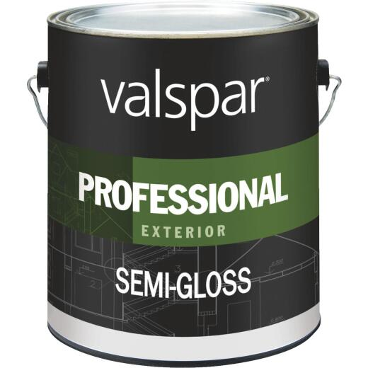Valspar PROFESSIONAL 100% Acrylic Semi-Gloss Exterior House Paint, White, 1 Gal.